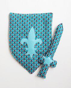 Kit Grand Chevalier bleu à motifs géométriques : Autres par quand-j-etais-petit