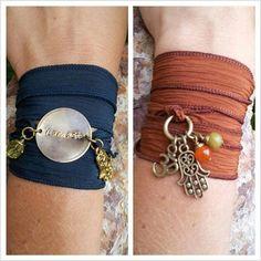 Yoga inspired silk wrap bracelet