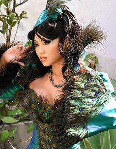 Peacock Makeup And Body Art