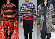 Patternbank brings you Part 2of thekey print trends coming through from the recent Menswear Catwalk collections for Fall/Winter 2015-16. Here we have an