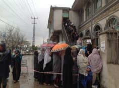 """""""Impressive women turn out in western Kabul. #afghanelection"""""""