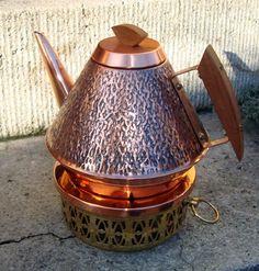 Teekanne mit Stövchen aus den 70ern von StoffevonMarie auf DaWanda.com