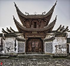 Hall of Wenzhong, Xinye Village, Zhejiang, China. by William Yu Photography, via Flickr