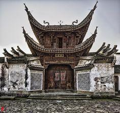 Hall of Wenzhong, Xinye Village, Zhejiang, China.