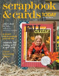 2009 - fall - past scrapbook and cards magazine
