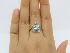 Vintage Sterling Silver Abalone Turtle Ring Size 10   Etsy Turtle Ring, Size 10 Rings, Get Glam, Sterling Silver, Sapphire, Engagement Rings, Vintage, Etsy, Jewelry