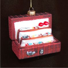 Best Angler Tackle Box Personalized Christmas Ornament
