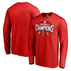 San Diego State Aztecs Fanatics Branded 2016 Mountain West Conference Football Champions Long Sleeve T-Shirt - Red