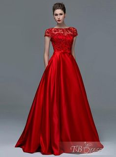 fb02bb02330fc Dressv Elegant Red Lace Short Sleeves Evening Dresses 2017 Sexy A-Line Boat  Neck Keyhole Long Women Formal evening dress gowns