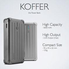 NT$1,790 超有質感的行李箱行動電源:essential tpe KOFFER 6000mAh