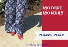 Modest Monday: Palazzo Pants :) - Raising Soldiers 4 Christ