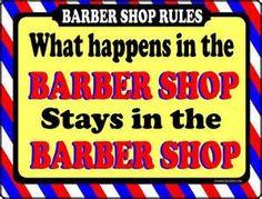 BARBER SHOP SIGN - WHAT HAPPENS - BARBER SUPPLIES, BARBER CHAIR, SALON ...