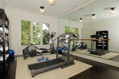 Home-bar-rooms-home-gym-traditional-with-wall-mirror-exercise-equipment-5.jpg (990×660)