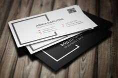 Clean Minimal Business Card by seventhin on @creativemarket