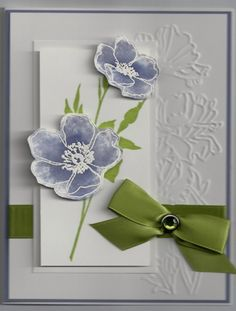 Fabulous Florets by Diane Vander Galien - Cards and Paper Crafts at Splitcoaststampers Homemade Greeting Cards, Making Greeting Cards, Greeting Cards Handmade, Homemade Cards, Embossed Cards, Stampin Up Cards, Altenew Cards, Pretty Cards, Sympathy Cards
