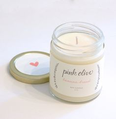 banana bread soy candle from Pink Olive - $24.00