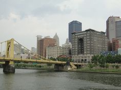 Pittsburgh skyline - the view from Adriana's penthouse where she and Tomas begin to fall in love in Third Base.