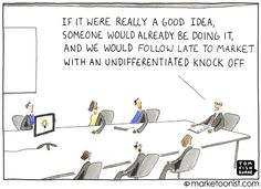 business cartoon: a good idea