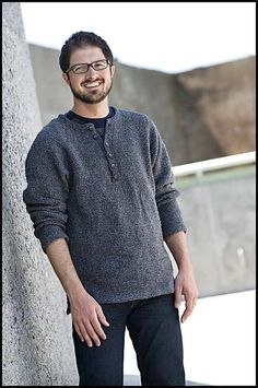 raglan sleeved henley by Bruce Weinstein from Knits Men Want
