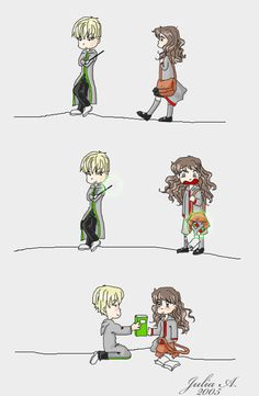 HP: Hermione and Draco 2 by glas-onion on deviantART