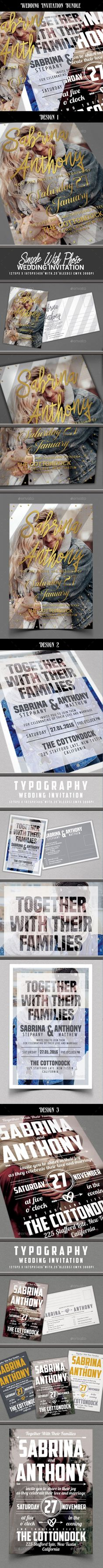 Wedding Invitation Template and Fonts