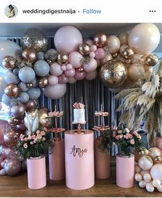 The Perfect Pink Baby Shower Gown – Sexy Mama Maternity - Geburtstag Birthday Balloon Decorations, Balloon Decorations Party, Baby Shower Decorations, Balloon Backdrop, Balloon Garland, Metallic Balloons, Adult Party Themes, 18th Birthday Party, Pink Birthday
