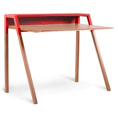 """""""Cant (cantilevered) Desk"""" in red, from bludot.com (15 Jan. 2013)"""