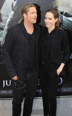Brad Pitt y Angelina Jolie asistieron juntos al estreno de la película World War Z en París. Para ella, esta gira en que acompaña a su pareja, es su primera aparición pública tras escribir una columna en el New York Times  sobre su doble mastectomía.