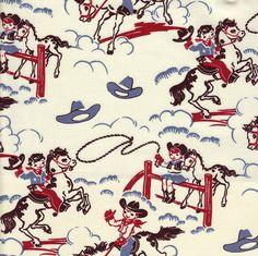 adorable cowboy fabric for a western-themed nursery