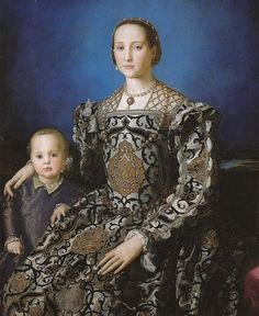 Agnolo Bronzino - Eleonora di Toledo with her son Giovanni at Uffizi Gallery…