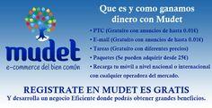 Esto es Impresionante, unico PORTAL 100% GRATUITO. GANA DINERO Desde Casa. SIN Inversion: http://www.derrotalacrisis.com/mudet-que-es-y-como-funciona/?afiliado=marketingcontentnet #Mudet #ecommerce #PTC #GanarDinero #IngresosOnline #NegociosOnline #NegociosEnInternet #NegociosPorInternet