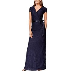 176d50a24b4f9 Adrianna Papell Plus Size Cap-Sleeve Lace Gown Women - Dresses - Macy's