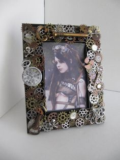 Frame Steampunk Picture Frame Watch Frame by LuckySteamPunk, $48.00