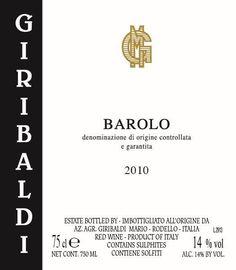 Giribaldi Barolo 2011