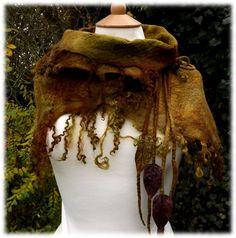 Mossy Shawl  Fairy tale shawl  elven shawl by folkowl on Etsy, $110.00 Xmas elves..are u listening??