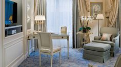 View the luxury accommodations at Four Seasons Hotel George V Paris, a luxury hotel off the Champs-Elysées, offering 244 hotel rooms and suites in Paris.