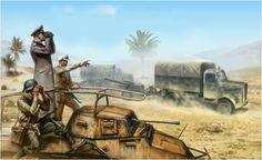 Erwin Rommel and the Afrika Korp