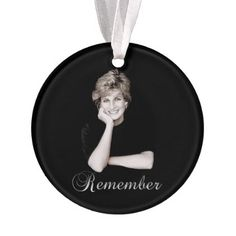 Remember Princess Diana Ornament - family gifts love personalize gift ideas diy