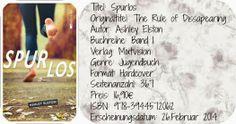 """""""Ein spannendes, realistisches Jugendbuch, das echt berührt"""", Rezension zu Ashley Elston: 'Spurlos' bei A reader lives a thousand lives before he dies"""