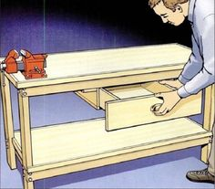 How to Make an Easy DIY Workbench Plan | Woodworking Session