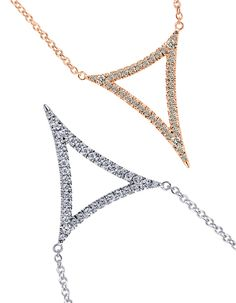 Dare to be different with this edgy gold diamond necklace. Discover your daring jewelry style at Gabriel & Co.
