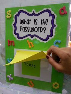 What is my password? Kids love this activity! They won't leave the class without saying it. Once you set a password, they can say it, spell it, make a sentence with it and move on to the next word.