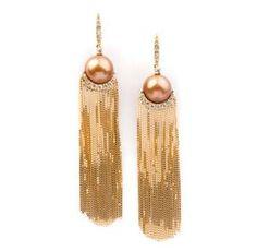 VANCOX | Pearl Gold Chain Earrings | {ʝυℓιє'ѕ đιåмσиđѕ&ρєåɾℓѕ}