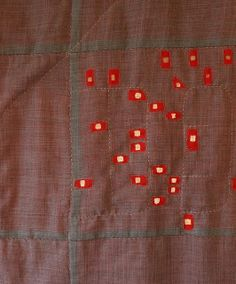 Quilt in back light front by kikiclark, via Flickr