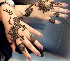 Eid ul Azha Simple And Easy Mehndi Designs For Girls Henna Hand Designs, Arabic Henna Designs, Mehndi Designs For Girls, Beautiful Henna Designs, Simple Mehndi Designs, Henna Tattoo Designs, Henna Tattoos, Hand Mehndi, Mehndi Art