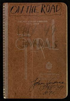 """The cover of a journal Jack Kerouac kept from 1948-49 while preparing to write """"On the Road."""""""