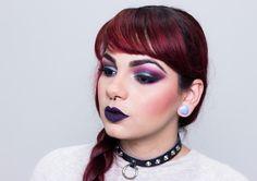 De Coturno e Spikes: Tutorial de Maquiagem: Dark & Vampy - Purple and G...