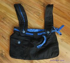 Tasche aus Rock und Hose / Bag made from skirt and pair of trousers / Upcycling