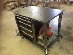 Welding table picture thread Metal Fabrication, Welding Workshop, Metal Workshop, Garage Workshop, Atelier Creation, Welding Shop, Welding Gear, Welding Training, Diy Welding