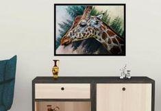 Giraffe - Logo kaufen, Geschenkidee, Webbanner, Wandplakat, Grafik design, Vektorgrafik, Flyer, Portrait nach Foto Web Banner, Flyer, Grafik Design, Flat Screen, Portrait, Pictures, Cool Posters, Gifts For Children, Wall Prints